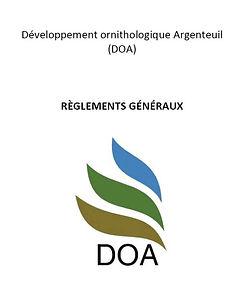 Règlements généraux DOA