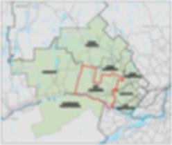 Carte territoire supra régionale DOA