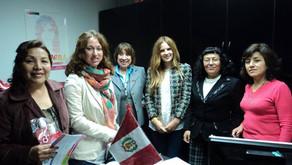 Reunión en la sede del Ministerio de la Mujer y Poblaciones Vulnerables del Perú (MIMP)