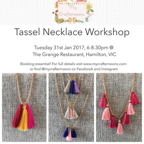 Tassel Necklace Workshop!