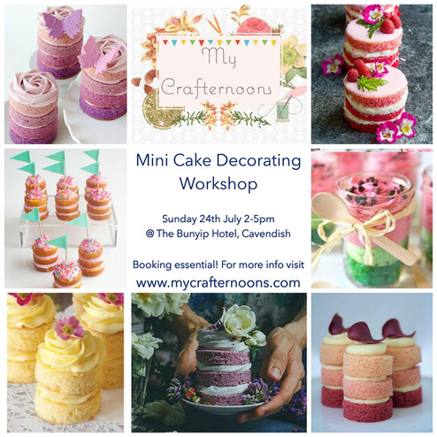 July's Crafternoon- Cake Decorating!