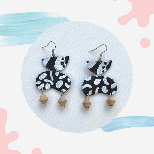 DIY Painted Leather Earrings