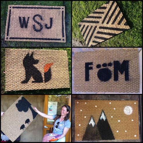 Sunday's Doormat Crafternoon at HIRL: Pics & Tutorial