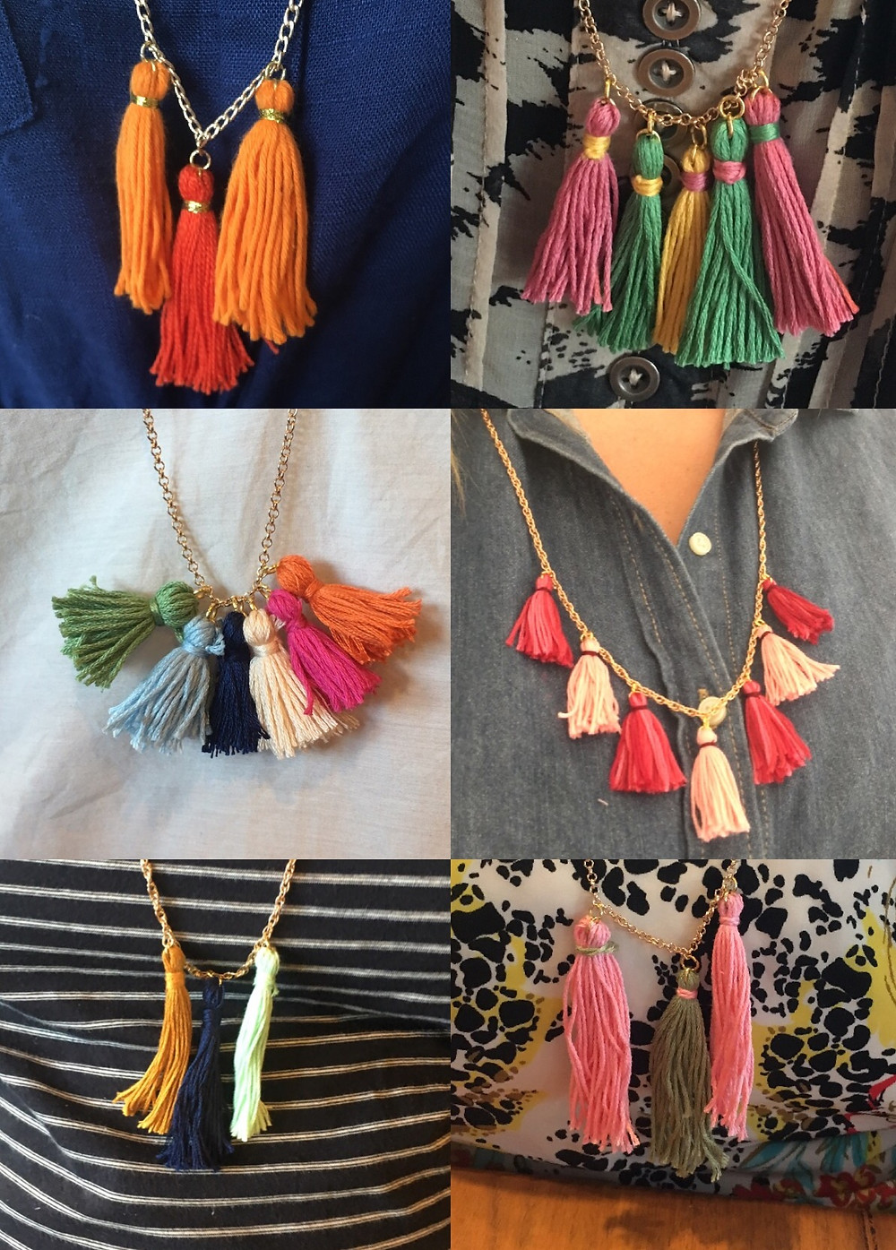 Tassel Necklaces My Crafternoons