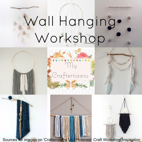 April's Crafternoon: Wall Hangings