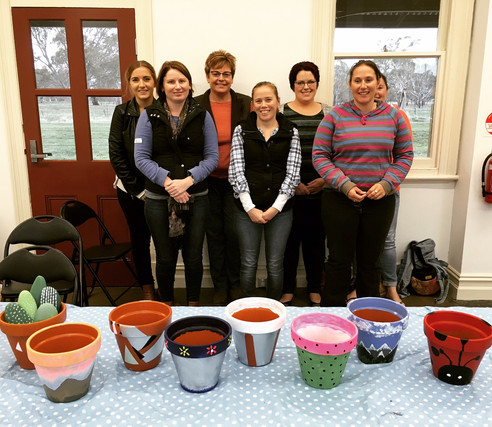 Pot Painting Party at Off The Rails Dunkeld