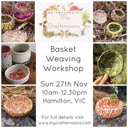November's Crafternoon- Basket Weaving!