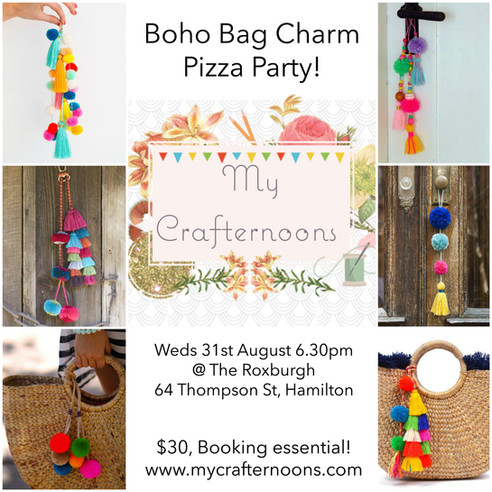 Boho Bag Charm Pizza Party!