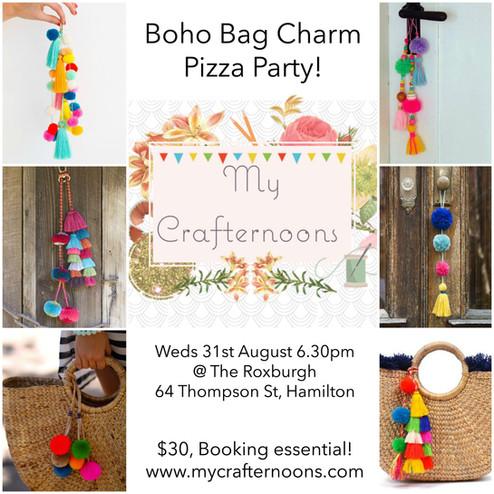 Boho Bag Charm Pizza Party!