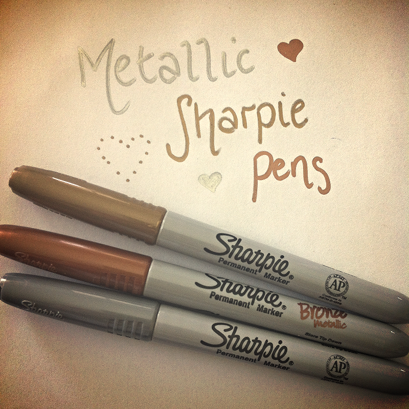 Metallic Sharpie Pens