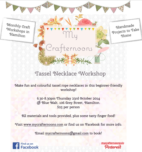 Tassel Rope Necklace Workshop- special evening edition!