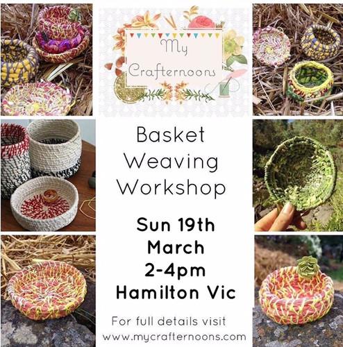 Basket Weaving Crafternoon!