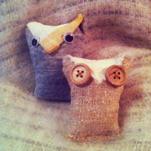 July's Crafternoon: Owl Hand Warmers!
