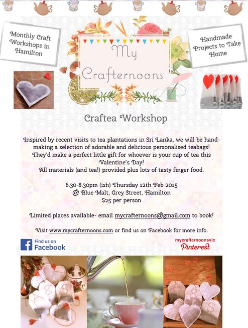 Craftea Workshop- Handmade Tea Bags!