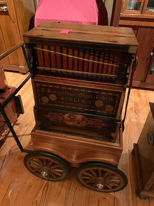 Bacigalupo 26 Key Barrel Organ with Cart