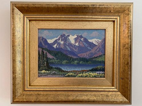 """""""Silver Lake High Sierras"""", Sammons Carl, Oil"""