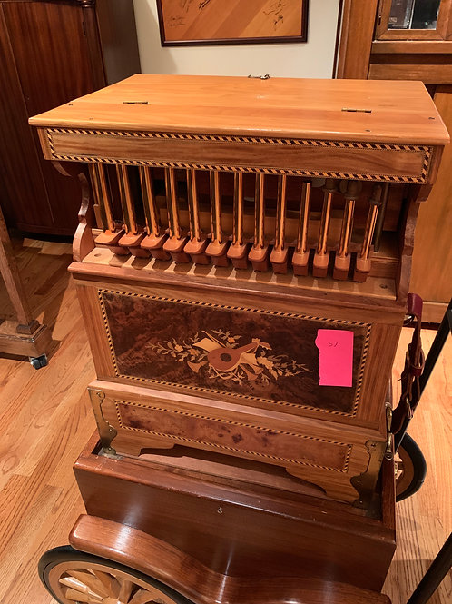 Bruns 24 Key Pan Flute Organ, with Cart and Rolls