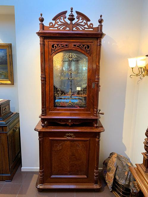 "Lochmann Style 146 Music Box, 24 3/8"" Bells + Base Cabinet"