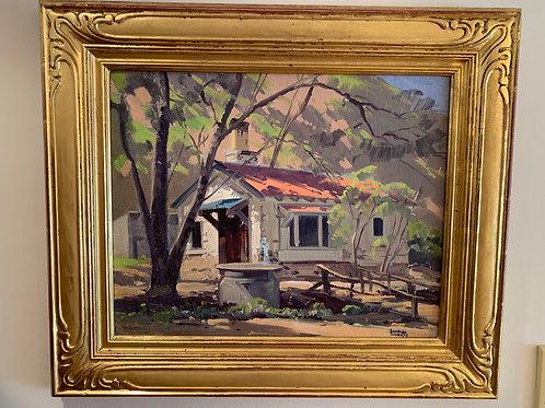 """Ranch Shelter"", Harris San Hyde, Oil on Canvas"