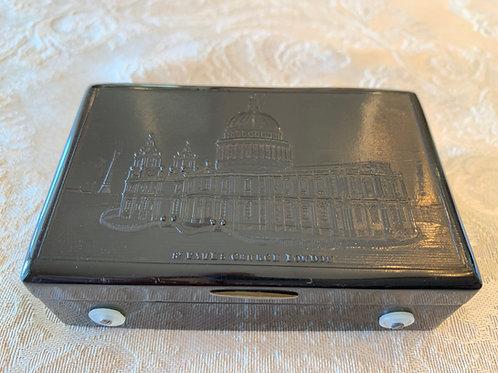 Musical Snuff Box, 2 Airs, St. Paul Church on Lid