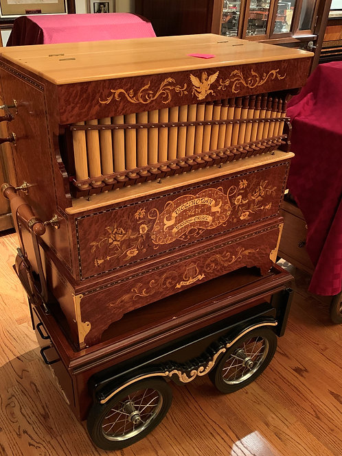 Bruns 42 Key Violino-Pan Organ, with Cart and Rolls