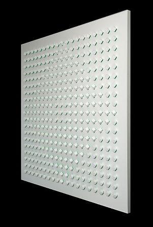 Tomasello, Atmosphere Chromoplastique, No 950, 2010, acrylic on wood