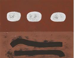 Three White Discs