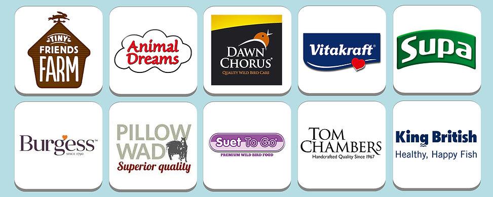 Tiny Friends Farm, Animal Dreams, Dawn Chorus, Vitakraft, Supa, Burgess, PIllow Wad, Suet To Go, Tom CHambers, King British