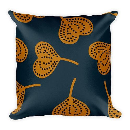 Dark teal ad ginger fig art throw pillow