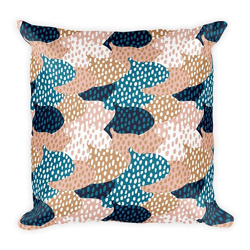 lovely unique dotty fig print throw pillow
