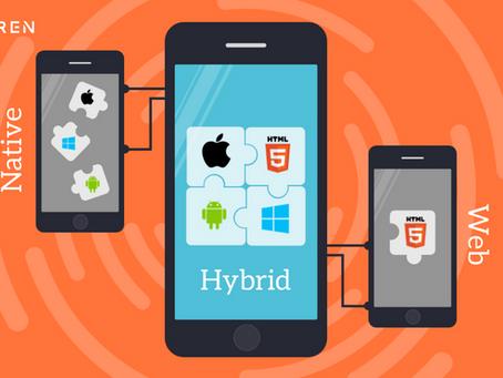 DIFFERENT TYPES OF APPS             WEB APP Vs HYBRID APP Vs NATIVE APP