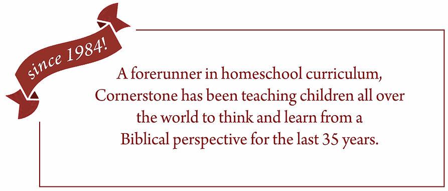 Celebrating Cornerstone Curriculum's 35 years
