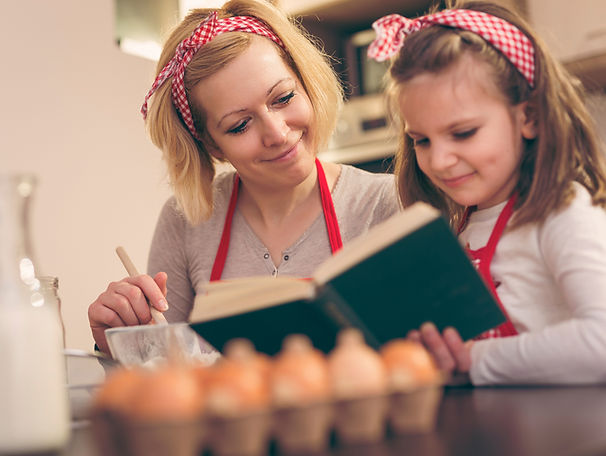 Mother child cooking training, homeschool teaching resources equipping