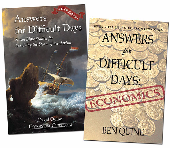 Answers for Difficlt Days, Cornerstone Curriculum Bible study