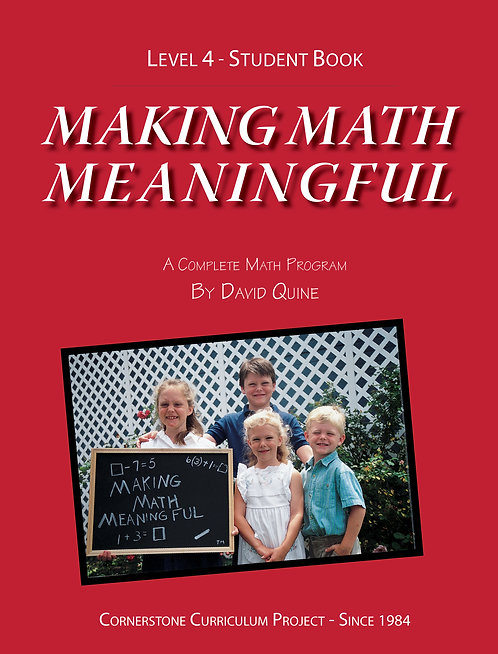 Making Math Meaningful: Level 4