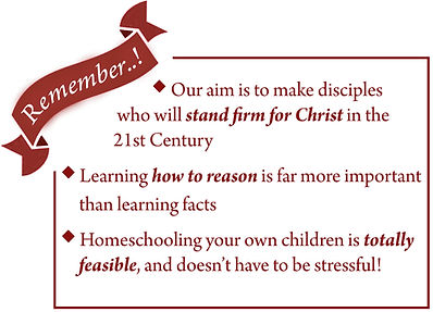 Cornerstone pillars reasoning through concepts Christian homeschooling