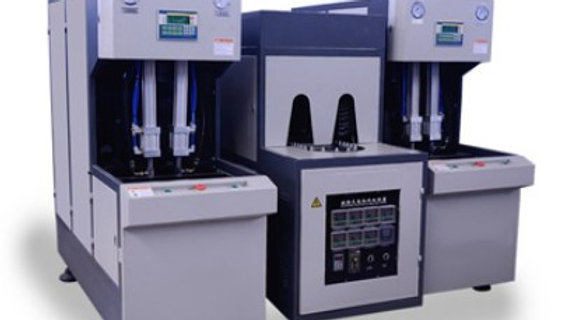 semi automatic 3L 2 cavity bottle blowing machine with 2 blowing machine
