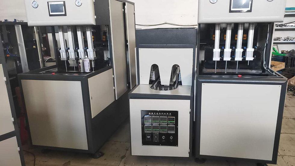 Semi automatic 4 cavity bottle blowing machine