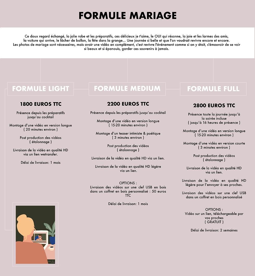 tarifs vidéo mariage paris