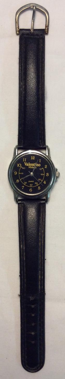 Valentino watch - round blakc face