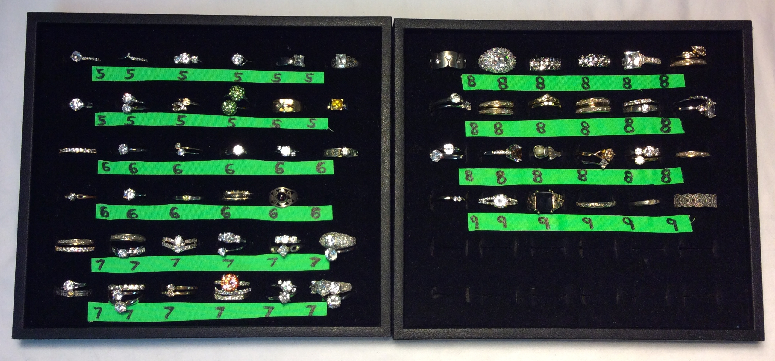 Assorted rings with jewels