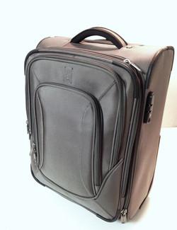 Shiny Grey Carry-on luggage