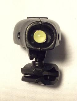 Clip on black plastic lights
