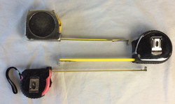 Various Tape Measures, New and Old