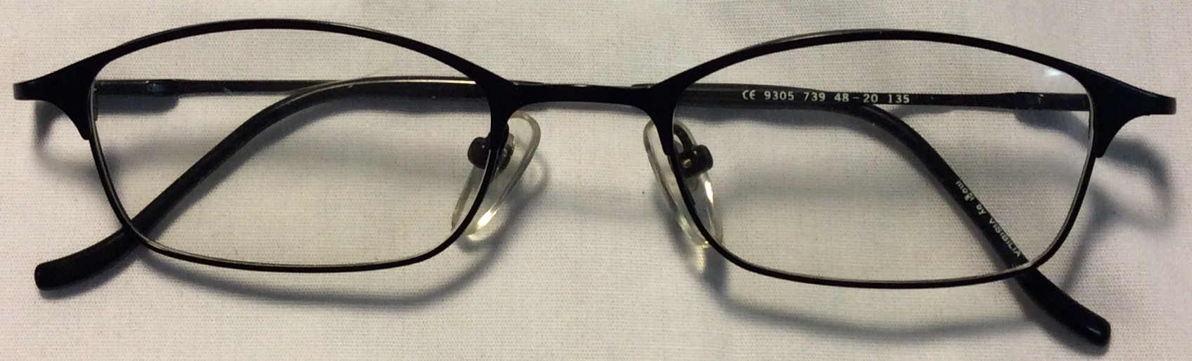 Visibilia Thin black metal frames