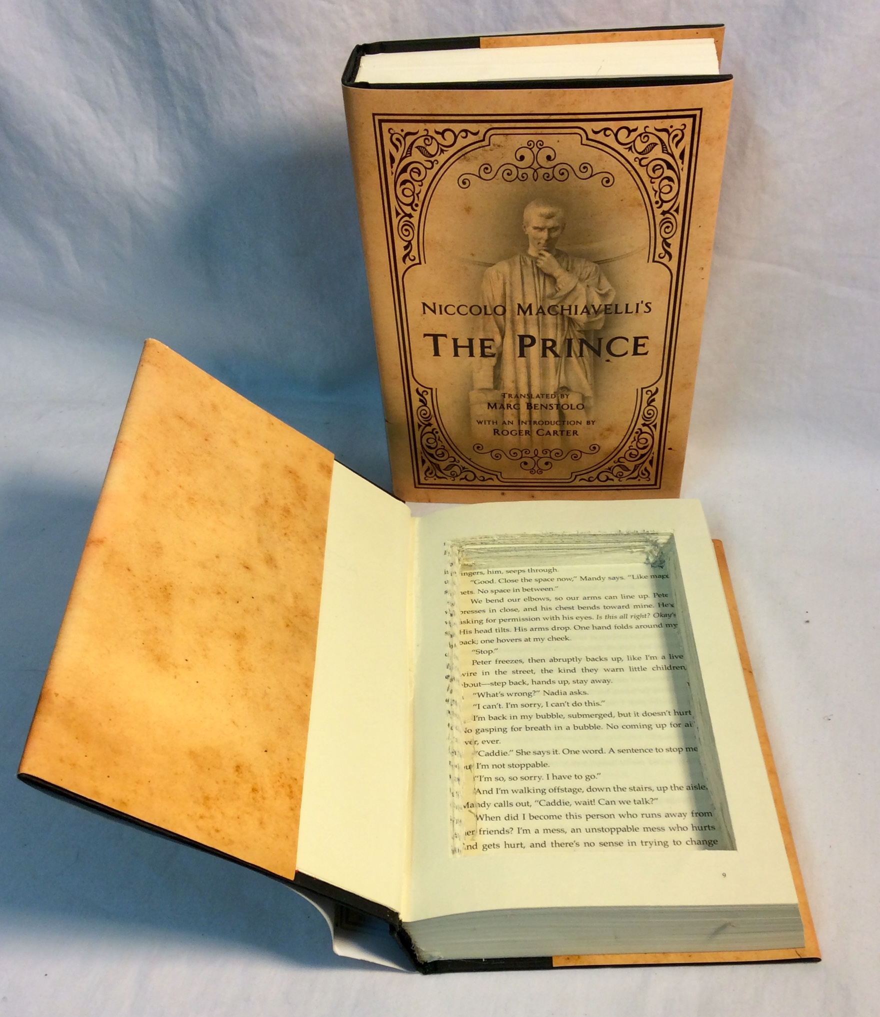 Hollowed-out hardcover book