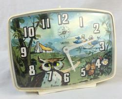 Smiths Retro 50's painting alarm clock with ticking owl eyes!