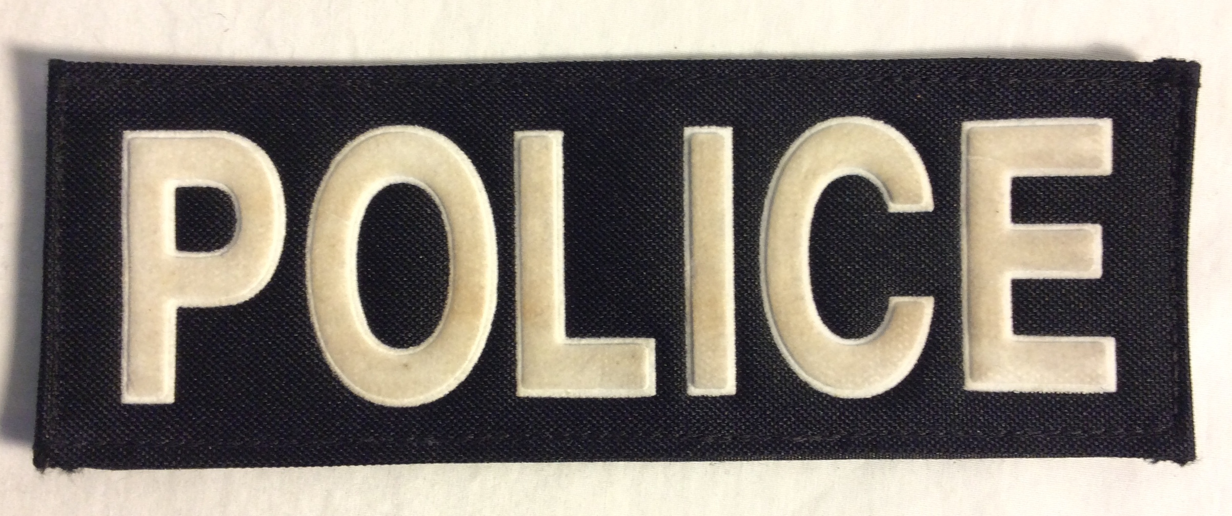 Police Velcro Patches, White