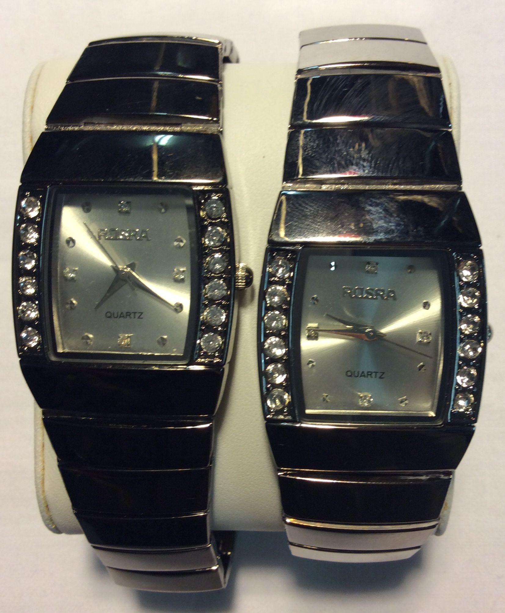 Rosra watch - square silver face