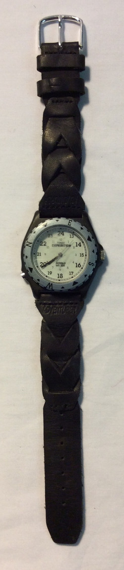 Timex White face, silver casing